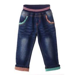 Disegno di jeans della ragazza online-Pettigirl vendita al dettaglio di nuovo design ragazze jeans moda personaggio dei cartoni animati tasca ragazze pantaloni denim bambini abbigliamento PT81016-1
