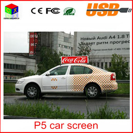 Wholesale Electronic Advertising - High definition P5 Led display screen advertising screen led car bus taxi cars top led electronic screen Size 960mm*320mm