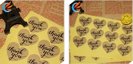 Wholesale Thanks For Wedding Gifts - THANK YOU heart design Sticker Labels Seals.3.8cm, Gift stickers for Wedding seals,1200pcs lot