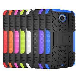 Wholesale Cell Nexus - hybrid kickstand case for Nexus6 Nexus 6 cell phone case dazzle case 2in1 tpu + pc case