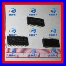 Wholesale Audi Tube Led - New original TM TM1640 days micro SOP-28 16 segment 8 LED digital tube driver chip