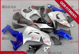 Wholesale Kawasaki Ninja Blue Paint - Blue and silver painted plastic injection molding custom fairing Kawasaki Ninja ZX10R 2006-2007 39