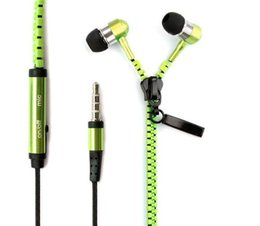 2015 Newest High Quality Stereo Bass Headset In Ear Metal Zipper Earphones Headphones with Mic 3.5mm Jack for iPhone Samsung MP3 Wholesale supplier newest mp3 от Поставщики новый mp3