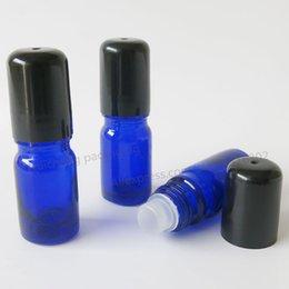 Wholesale Cobalt Blue Bottle Wholesale - 200pcs lot 5ml Cobalt Blue Glass Roll On Bottle, 5cc Mini Roll-on Bottle, 6 1oz Blue Essential Oil Use