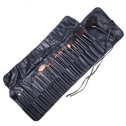 Wholesale Rolls Hair - 32Pcs Professional Makeup Brushes make up Cosmetic Brush Set Kit Tool + Roll Up Case
