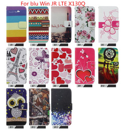 Wholesale Picture Cards - Hot Sale Printing Picture Stand Desgn Flip Leather Case Cover For blu Win JR LTE X130Q