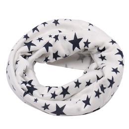 Wholesale blue star scarf - Winter Warm Stars Ring Neckerchief Children Baby Boy Girl Crochet Scarves Child Pullover Neckerchief Kid Accessories