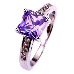 Wholesale Wholesale Tourmaline Ring - Wholesale-Free Shipping Wholesale Lady Princess Cut Tourmaline & White Topaz 925 Silver Ring Size 7 8 9 10 Noble European Jewelry