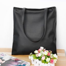 Wholesale Tote Bags For Men Wholesale - Wholesale-New Fashion Brand Black Leisure Lady Handbag Shoulder Bag PU Leather Women Tote Purse For Lady Free Shipping