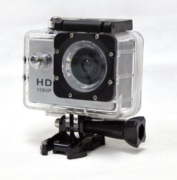 Wholesale Good Sports Cameras - Multi-lingual 1.5 LCD Screen Action Camcorders 30m Waterproof Mini Camera Full HD DV 1080P Sports Camera resistant DHL Free Good Gift
