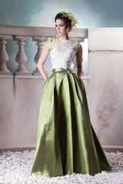 Великолепный этаж линии онлайн-Великолепные кружева с высоким декольте вечерние платья 2016 Line платье выпускного вечера цветы длиной до пола на заказ плюс размер вечернее платье