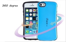 Wholesale Iface Shockproof Iphone Case - iFace mall Small Waist Case 360 Degree Hybrid Shockproof Cover Protector for iPhone 6 6s 6plus 5 5s Samsung S7 S6 Edge Plus S5 Note5 Note4