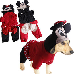 Wholesale Discount Winter Jacket - FERR SHIPPING!! Winter Pet Dog Clothes Mickey Mouse C-0289 Free Shipping Discount Overall Jumpsuit Clothing!!!