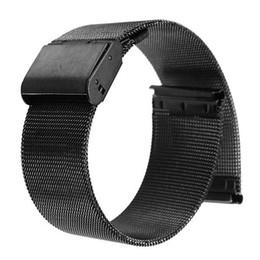 Низкая цена черный 18 мм 20 мм 22 мм 24 мм из нержавеющей стали сетки браслет ремешок замена наручные часы группа от