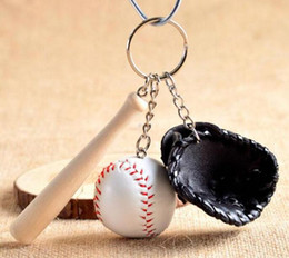 Wholesale Fan Goods - Good A++ Creative baseball key holder baseball fan supplies gifts sports souvenirs KR154 Keychains mix order 100 pieces a lot