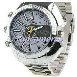 Wholesale Spy Stainless Watches - 2015 New Stainless Steel W4000 Spy Watch Hidden Camera 16GB 5M Night Vision 15 Meters Waterproof 1920*1080 1080P AVI Video Recorder DV DVR