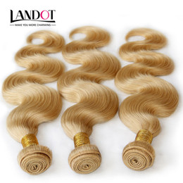 Wholesale Weave Hair 613 Color - Color 613# Bleach Blonde Eurasian Body Wave Virgin Hair Eurasian Human Hair Weave Bundles SOFT THICK Tangle Free Hair Extensions Dyeable