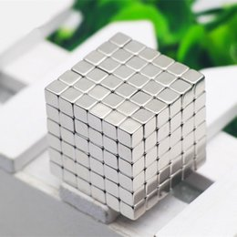 Wholesale Neodymium Magnet Toys - Wholesale-Magnetic Cubes 4mm 216pcs Neodymium Magnetic Building Blocks Cubes Magnet Toy new Christmas gifts for children
