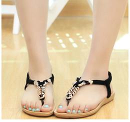 Wholesale Leather Comfort Straps - Women shoes fashion flip flops women sandals comfort casual Flats sandals women Solid color hot Summer PU Flats sandals