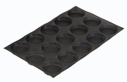 Wholesale Pastry Trays - 4 -Inch Bun Baking Pan 15 Loaves Non -Stick Perforated Baking Mold Silicone Round Sandwich Bread Roll Muffin Pastry Pie Tart Tray