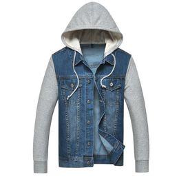 Wholesale Chaqueta Denim Hombre - FG1509 Sport Denim Jacket Men 2015 Hoodies Jeans Jaqueta Masculina Outwear Fashion Brand Chaqueta Hombre Coats Casaco Masculino ZHY1737