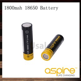 Wholesale personal vaporizer - Aspire 18650 Battery 1800mah 40A 3.7V Li-ion Battery For Personal Vaporizer Electronic Cigarette 100% Original