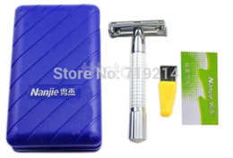 Wholesale Double Safety Razor Blades - 2014 Classic Double Edge Shaving Safety Razor +10 Blades SV000910