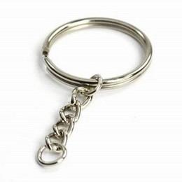 """Livraison gratuite 30 pièces / lot New Silver 25mm Porte-clés Porte-clés 53mm (2 1/8 """") de long ? partir de fabricateur"""