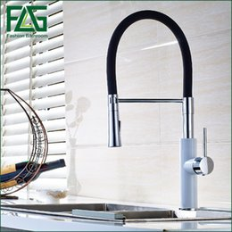 Wholesale Swan Waterfall Faucet - Pull Out Kitchen Sink Faucet Black Pull Down Sink Swan Mixer Faucet Kitchen Tap torneira cozinha Kitchen Mixer Tap