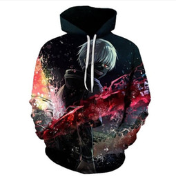 Wholesale Tokyo Ghoul Sweatshirt - 2017 Autumn winter new Fashion 3D Hoodies Anime Tokyo Ghoul printing casual Hoody Funny Sweatshirt Drop shipping XK087