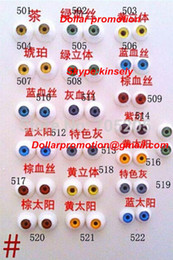 Wholesale Toy Eyeballs - 2016 Free shipping 50pairs color  size  Lot wholesale 8mm 10mm toy 's acrylic eyes promotionHalf Round Acrylic Doll Eyeballs 8mm 1 8 Bjd sd