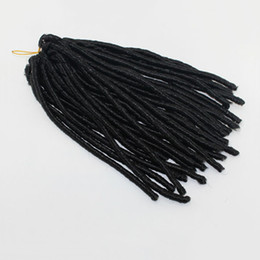 Wholesale Ebony Hair - Soft Dread Lock Synthetic Hair Extensions,Ebony Dreadlocks Kanekalon Twist Hair Braids,Darling Curls Synthetic Braiding Hair for Black Women