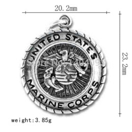 "Wholesale Marine Coins - New Arrive Zinc Alloy ""United States Marine Corps ""Disc Charm charm tube disc hub fixed gear"
