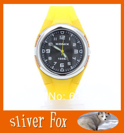 Wholesale Girl Diving Watches - Wholesale-Xonix 2015 Hot Jelly New Fashion Analog Electronic Watch Digital Meter Girls Sports Diving Watch Waterproof 4 colors