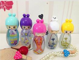 Garrafas de perfume pintadas on-line-300 pcs 20 ml Garrafa De Perfume De Vidro Linda Boneca Pintada Vazia Perfume Garrafas Com Pulverizador Recipiente Recipientes de Perfume
