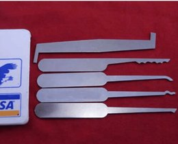 Wholesale Credit Card Pick Set - 5in1 Credit Card Lock Pick Set Tool for Locksmith