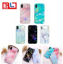 Wholesale Water Defender - Phone Case for iPhone X 8 7 6 6S Plus Laser Marble Design Cover Case Sparking Shiny Bling Felxible Soft TPU Defender Case