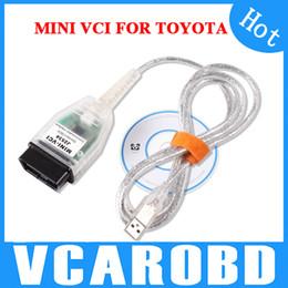 Wholesale Toyota J2534 Cable - MINI VCI FOR TOYOTA & Toyota MINI- VCI J2534 Software TIS Techstream V8.10.021 Diagnostic Cable Free Shipping