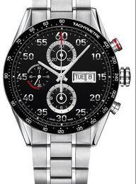 Wholesale Eta Swiss Date - Luxury Mens Swiss Top Brands Model Eta 7750 Automatic Chronograph Day Date CV2A10 Watch Calibre 16 with Box Papers Men Mechanical Wristwatch