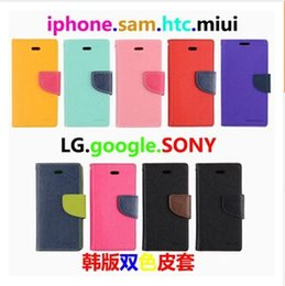 Wholesale S4 Mini Mercury Case - New Mercury Wallet PU Flip Leather Stand Case Card Slots For iPhone 4 5 6 6 plus 6plus Samsung Galaxy S6 edge S6edge S4 S5 Mini Note 3 4