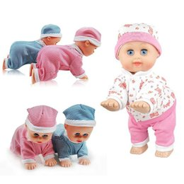 toys dance sing prices - Wholesale- Fashion Reborn Dolls Baby Kids Electric Toy Crawling Crying Singing Dancing Simulation Doll