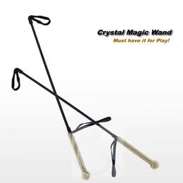 Wholesale Sex For Beautiful - Beautiful Shiny Diamond Handle Leather Slave Training Whip for BDSM Play Spanking Paddle Spanker Spank Flogger Fetish Gear Sex Toys