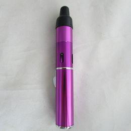 Wholesale click vapor - Hot Wholesale Click N Vape Sneak A Vape Vapor Herbal Vaporizer smoking pipe Trouch Flame Lighter with built-in Wind Proof Torch Lighter