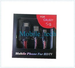 Wholesale Tab 2m - 2M 6FT 3 in 1 micro usb MHL to HDMI HDTV micro 11 pin cable for samsung galaxy s5 i9600 galaxy tab