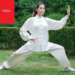Wholesale Tai Gold - Spring and summer south korean silk tai chi clothing quinquagenarian leotard female men's tai chi performance wear martial arts