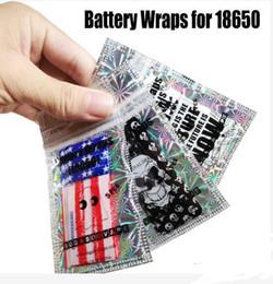 2019 baterias samsung 25r 18650 20700 21700 Bateria Wraps Papel Bandeira Crânio Baterias Shrink Sticker Wrapper para LG HG2 Samsung 25R 30Q Sony VTC6 VTC5 desconto baterias samsung 25r