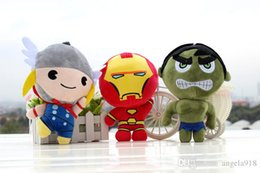 Wholesale Hulk Plush - 2017 The Avengers Plush toy doll For 7 styles Q version Hulk Iron Man Thor Stuffed Toys 20cm Hight quality