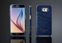 Caixa de telefone de couro de luxo galaxy s5 on-line-Nova chegada de luxo retro pu leather case de volta para samsung galaxy s5 s6 s7 borda nota 5 4 saco da tampa do telefone com cartão titular para htc one m8 m9
