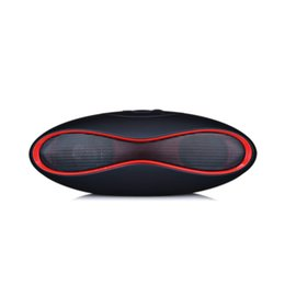 Wholesale rugby music - Mini Wireless Bluetooth Speaker Sound Box Rugby Portable Audio Player Music for Phone PC Subwoofer with TF USB Player