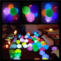 Wholesale Order Wholesale Wedding Supplies - 12 Inch LED Colorful Flash Light Up Latex Balloon For Wedding Christmas Bar Party Decoration Supplies mixed order Free Shipping